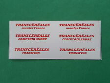 TRAIN HO.LOT.DECALCOMANIES.TRANSCEREALES. POUR 3 WAGONS CEREALIERS .C102
