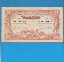 Banque de L' Indochine  100 Francs Djibouti le 9 Janvier 1920