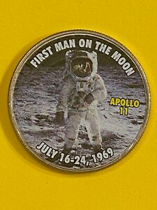 COIN KENNEDY COLORIZED SPACE FREE SHIPPING