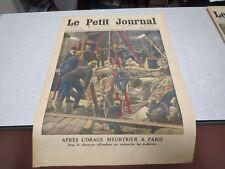 LE PETIT JOURNAL SUPPLEMENT ILLUSTRE N° 1232 1914 paris sapeurs pompiers *