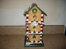 Bless Our Nest Bird House 3 stories Christmas Winter Decor Guc