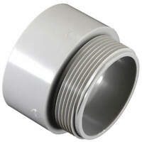CANTEX 5140108 Male Adapter,2 In Conduit,PVC,2-1/8 In L