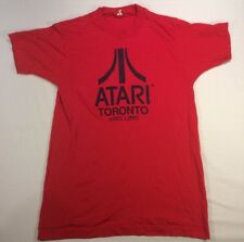 Vtg Atari Toronto 1990 Event T Shirt Video Games Two Sided 50/50 Size M