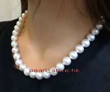 """AAAAA Luster 18""""11-12mm Round Natural Real South Sea White Pearl Necklace 14k"""