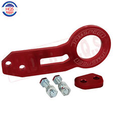 JDMSPEED RED UNIVERSAL BILLET CNC ALUMINUM RACING REAR TOW HOOK JDM ANODIZED