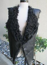 STUNNING AND  BEAUTIFUL WOMENS FRENCH LAMB VEST - WOW - PLEASE LOOK!