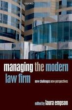 Managing the Modern Law Firm: New Challenges, New Perspectives (Paperback or Sof