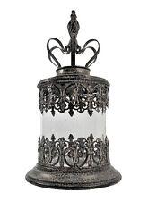 Elegant Pillar Candle Holder w/ Crown Top