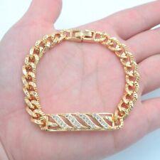 18K Yellow Gold Filled Clear Mystic Topaz Stylish Women Link Bracelet Jewelry