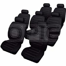 Cosmos Car Seat Covers Leatherlook - Set - Black - Toyota Previa (2000-2005)
