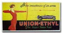 1927 Union Ethyl Gasoline Oil vintage reproduction poster print ad 20's 1920's