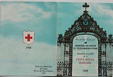 CARNET DE 8 TIMBRES - EMISSION AU PROFIT DE LA CROIX-ROUGE FRANCAISE - 1968