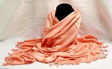 Large Peach Pashmina Tribal Ethnic Gypsy Dance Scarf Wrap Shawl Women Lady Girl