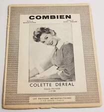 Partition vintage sheet music COLETTE DEREAL : Combien * 60's
