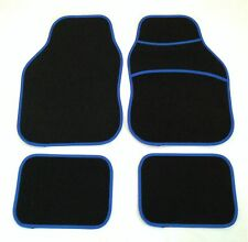 Black & Blue Car Mats For Vauxhall Astra Corsa Insignia Nova Tigra Vectra Vxr