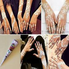 Natural Herbal Henna Cones Temporary Tattoo kit White Body Art Paint MehandiOG^~