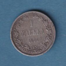 Finnland Russland 1 Markkaa 1874 Silber in ss (812)