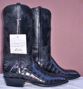 Lucchese Classics Handmade, Ultra Smooth Belly Crocodile, Style# GD0349, (8 D)