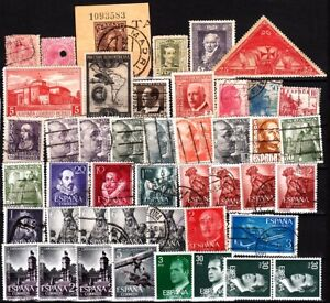 SPAIN 1909 to 1980s. Mix. Mainly used, some MNH