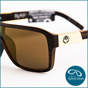 NEW Dragon The Jam Remix Matte Woodgrain Copper (42001 229) Sunglasses
