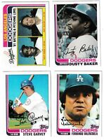 1982 Topps Baseball Los Angeles Dodgers Complete Team Set - 32 Cards