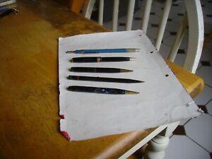 Vintage 3 propelling pencils, one vacumatic pencil, one grip pencil .