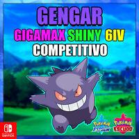 Gengar Gigamax Shiny 6ivs competitivo Poéemon espada y escudo Entrega Rapida