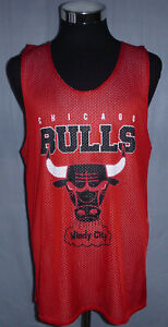 Chicago Bulls Windy City NBA Red Shooting Blank Back Jersey Men's Size Large