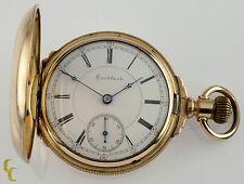 14k Yellow Gold Filled Rockford Full Hunter Pocket Watch 15 Jewels 18S Gr: 85