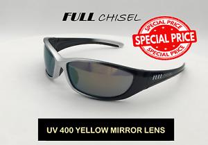Safety Glasses, Black/Silver Frames UV 400 99.9% Protection (Box of 6 glasses)