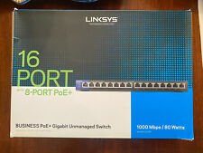 Linksys Unmanaged Switch LGS116P 16 Port PoE+ - USED - FREE SHIPPING