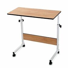 Couch Laptop Table on Wheels Lap Desk Adjustable Table for Sofa BUREI Maple