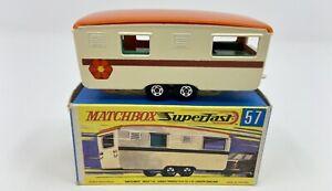 Matchbox Superfast No. 57 Trailer Caravan in Original Box