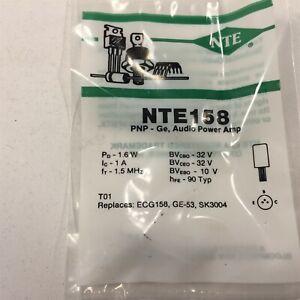 (1) NTE NTE158 Germanium PNP Transistor Audio Power Amplifier