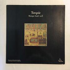 TURQUIE MUSIQUE SOUFI VOL. 1 ~ TURKISH ~ OCORA LP ~ GATEFOLD MYSTIC PSYCH TRAD.