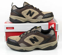 New Balance 627 Steel Toe MID6270 Brown Leather Shoes 2E Wide Men's Size 11