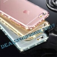 New Luxury Ultra Thin Crystal Bling Diamond Gel Case Cover for iPhone Models