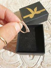 Außergewöhnlicher Damen Ring mit 9 Brillanten in 585er Weißgold