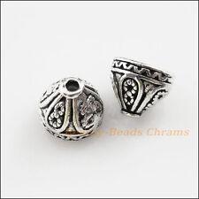 6Pcs Tibetan Silver Tone Flower Cone End Bead Caps Craft DIY 7.5x9mm