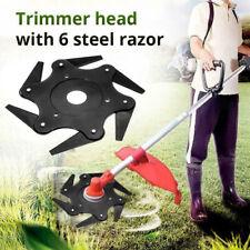 6 Steel Blade Grass Trimmer Head Brush Cutter Garden Tools Strimmer Mower Razor