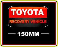 TOYOTA RECOVERY VEHICLE STICKER DECAL 4WD OFF ROAD TRUCK FUNNY BUMPER BNIP RED