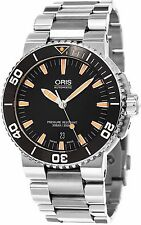 Oris Men's Divers Black Dial Stainless Steel Swiss Automatic Watch 73376534159MB