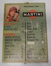 T1 Ancien panneau tarif -  Bistrot MARTINI