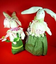 NEW SET OF 2 RAZ IMPORTS EASTER RABBITS BY CAROL KING AND PAULA BUTTLE