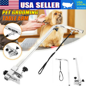 """Portable 19"""" Strench 115cm Adjustable Steel Pet Dog Grooming Table Arm Supplies"""