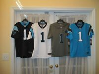 Brand New Cam Newton #1 Carolina Panthers YOUTH S-M-L-XL Nike Jersey MSRP $75