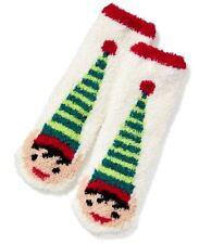 NWT 1 Pair Adults Fuzzy Cozy Socks SANTA PIXIE ELF ELVES Old Navy