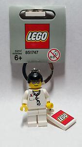 Brand New Lego - Doctor Keyring (2006) - City - 851747 - Gray Tag - Very Rare