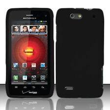 Hard Rubberized Case for Motorola Droid 4 XT894 - Black