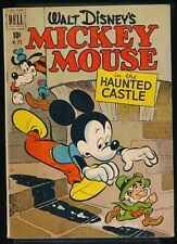 MICKEY MOUSE in the HAUNTED CASTLE 1951 Dell Four Color 325 Comic Book 3.0 GD/VG
